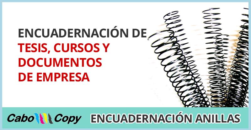 Encuadernacion de tesis, cursos y documentos de empresa Alicante