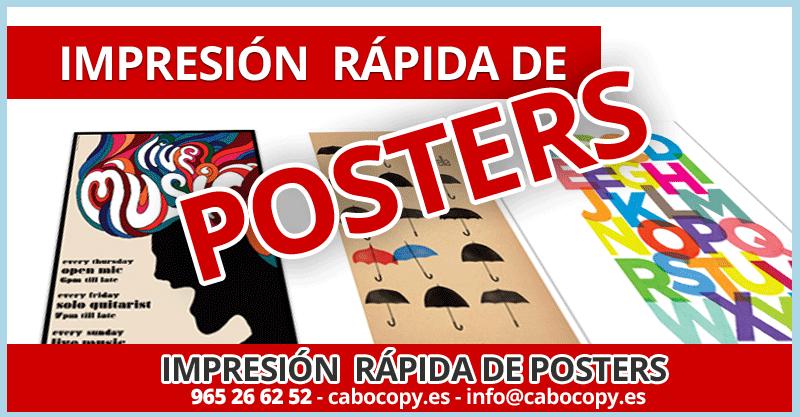Imprimir poster Alicante Playa de San Juan