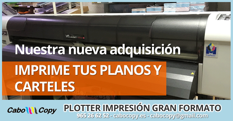 Impresión planos, carteles, posters gran formato Alicante
