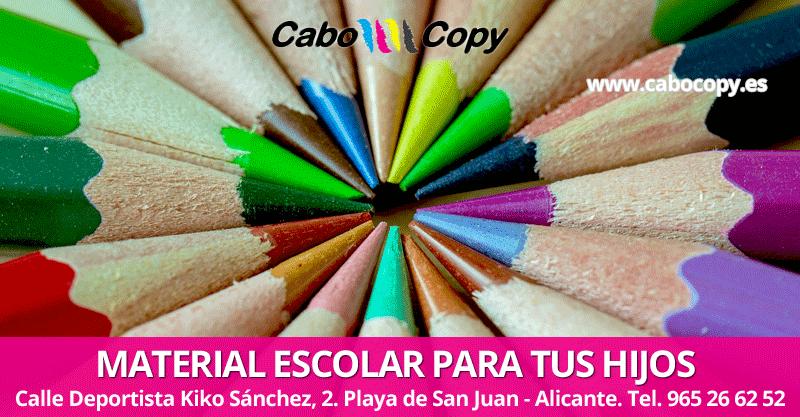 Material escolar Alicante Playa de San Juan