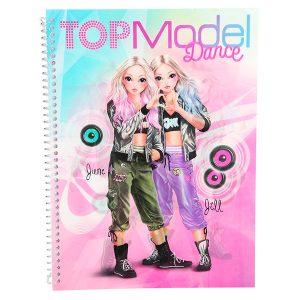 Cuaderno para colorear y con pegatinas Top Model Dance