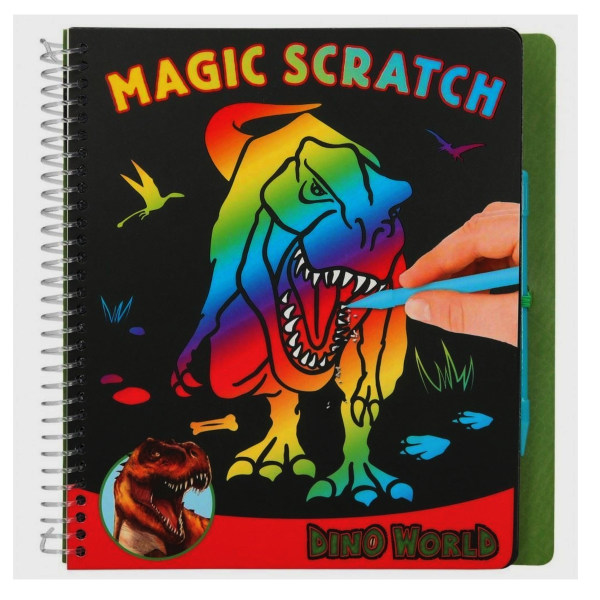Dino World Magic-Scractch Book