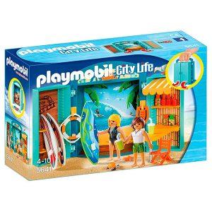 Playmobil cofre trienda de surf