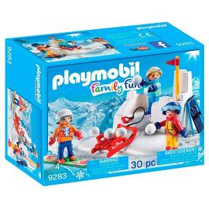 Playmobil lucha bolas de nieve