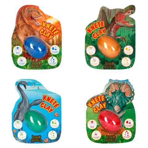 Plastilina saltarina con bola luminosa - Dino World