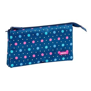 Porta todo triple Safta Dots blue
