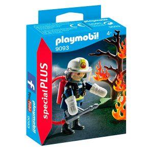Playmobil Bombero árbol en llamas