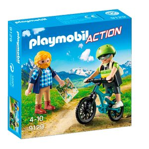Playmobil ciclista y excursionista