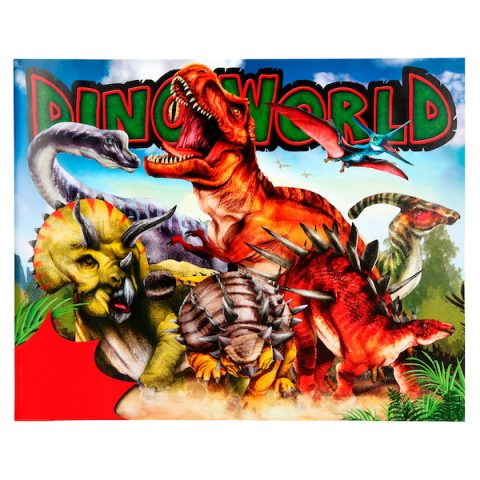 Dino World - Crea tu mundo de dinosaurios con pegatinas
