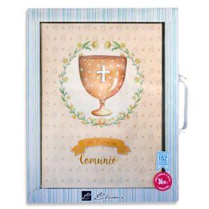 Libro de firmas comunión + Maletín - (Diseño Cáliz)