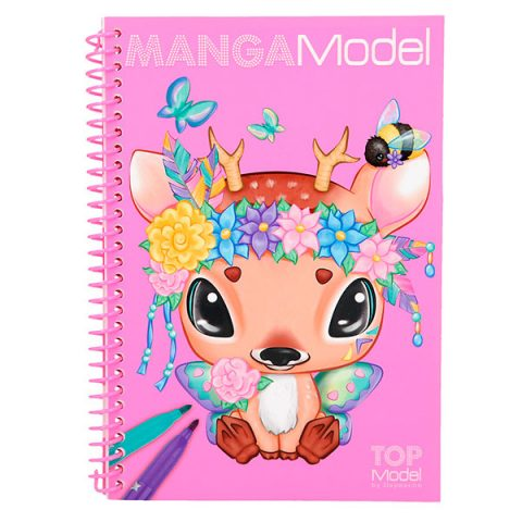 TopModel - Pocket libro para colorear Modelo Manga