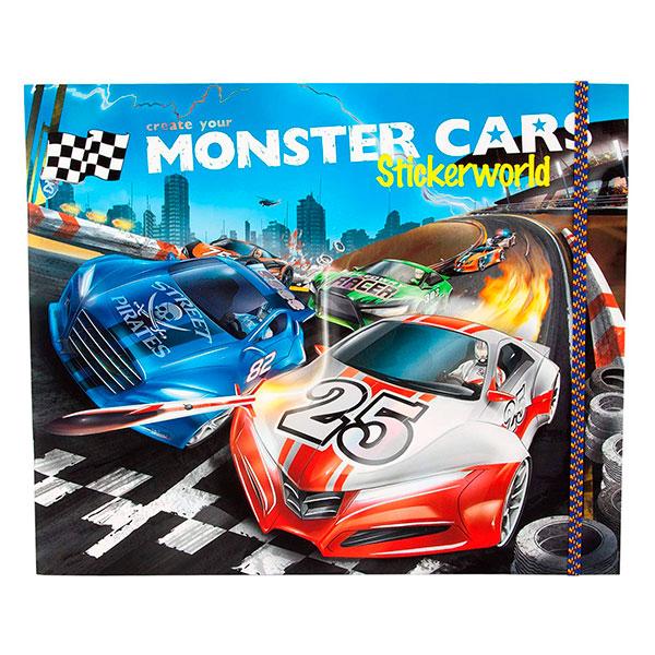 Álbum de 24 páginas con 6 páginas de Pegatinas - Monster Cars - Stickerworld