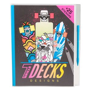 Cuaderno Stickers Skate Decks Desings