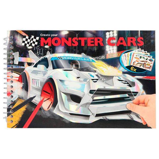 Cuaderno colorear - Monster Cars