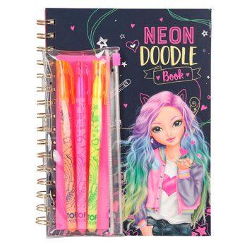 Libro para Colorear con 3 lápices, diseño de diodos de neón, Multicolor - TOP MODEL