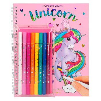 Libro para Colorear con 7 rotuladores y un lápiz mágico - Ylvi Minimoomis