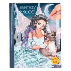 Libro para Colorear con luz y Sonido - Fantasy Model Iceprincess - TOP MODEL