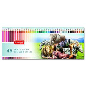 Bruynzeel – Caja metálica 45 Lápices de colores