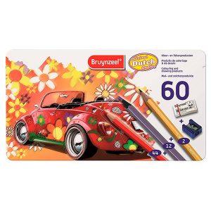 Bruynzeel - Caja metálica 60 Lápices de colores