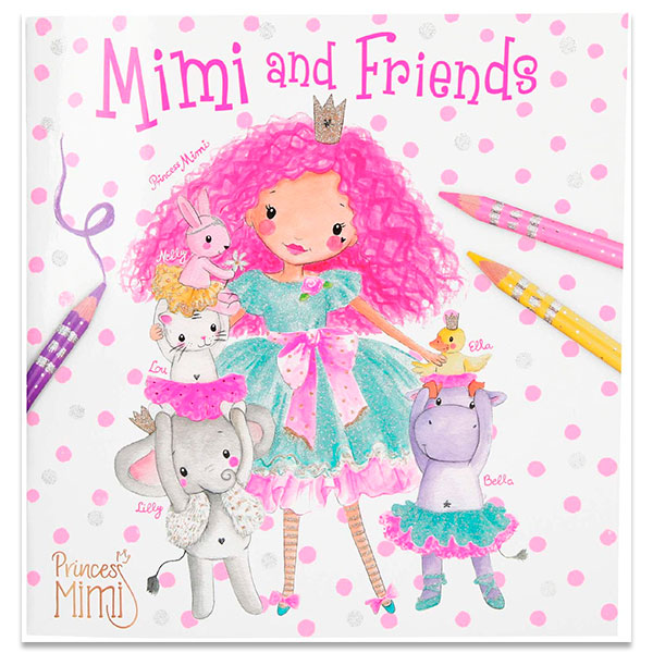 Princess Mimi and Friends - Libro para colorear