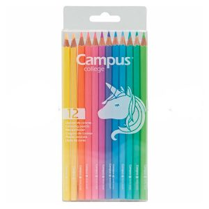 Caja de 12 lápices color pastel - Campus Colege